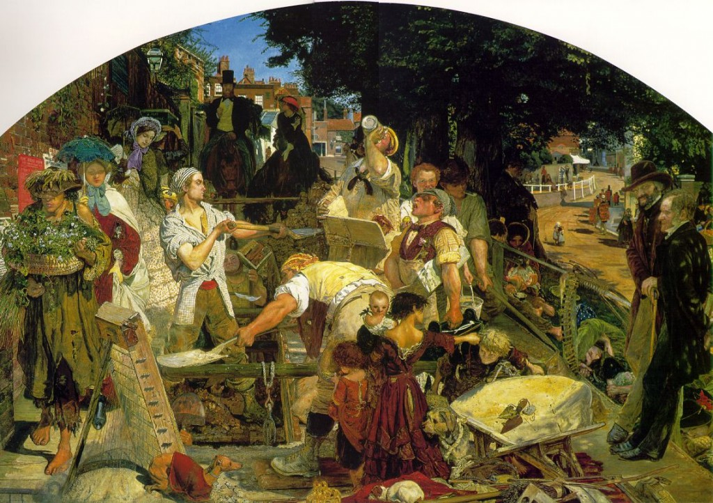 "Detalhe de ""Work"", (1852-63) de Ford Madox Brown"