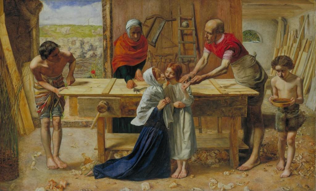 """""""Cristo Na Casa de Seus Pais"""", John E. Millais."""