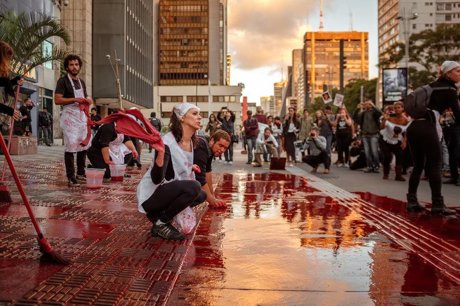 Cordão da Mentira, São Paulo. Foto: Eduardo Figueiredo / Mídia NINJA