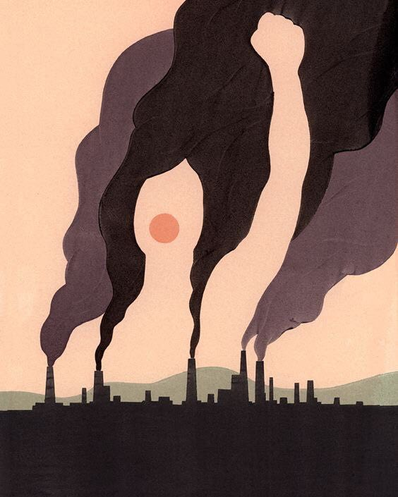 """Climate Protestor"" Communication Arts, Society of Illustrators NY. Arte: Alex Nabaum"