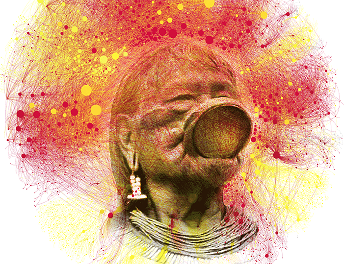 Ilustração: Cocar digital – por Fábio Malini e Mídia NINJA
