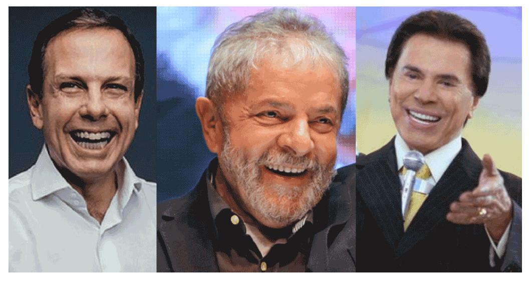Dória, Lula e Silvio Santos são citados em pesquisa de opinião nas periferias de São Paulo.