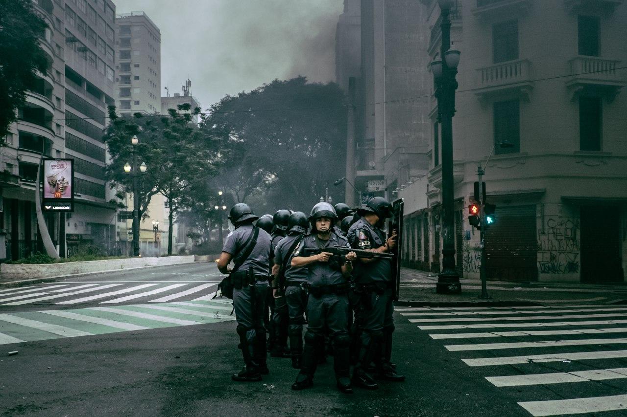 Polícia reprime manifestação da greve geral no centro de São Paulo. Foto: Tuane Fernandes/Mídia NINJA