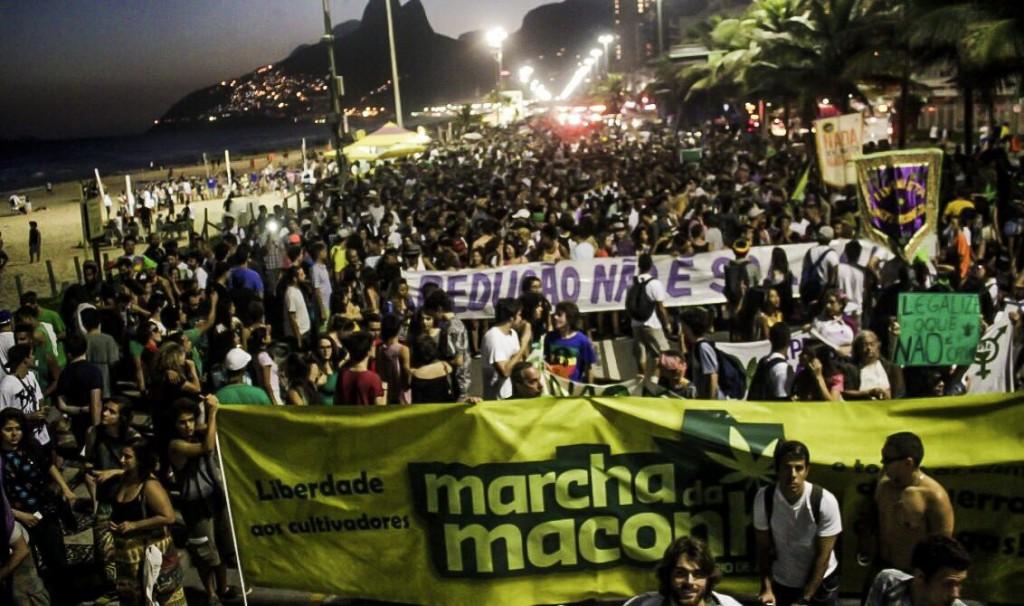 Marcha da Maconha no Rio de Janeiro.