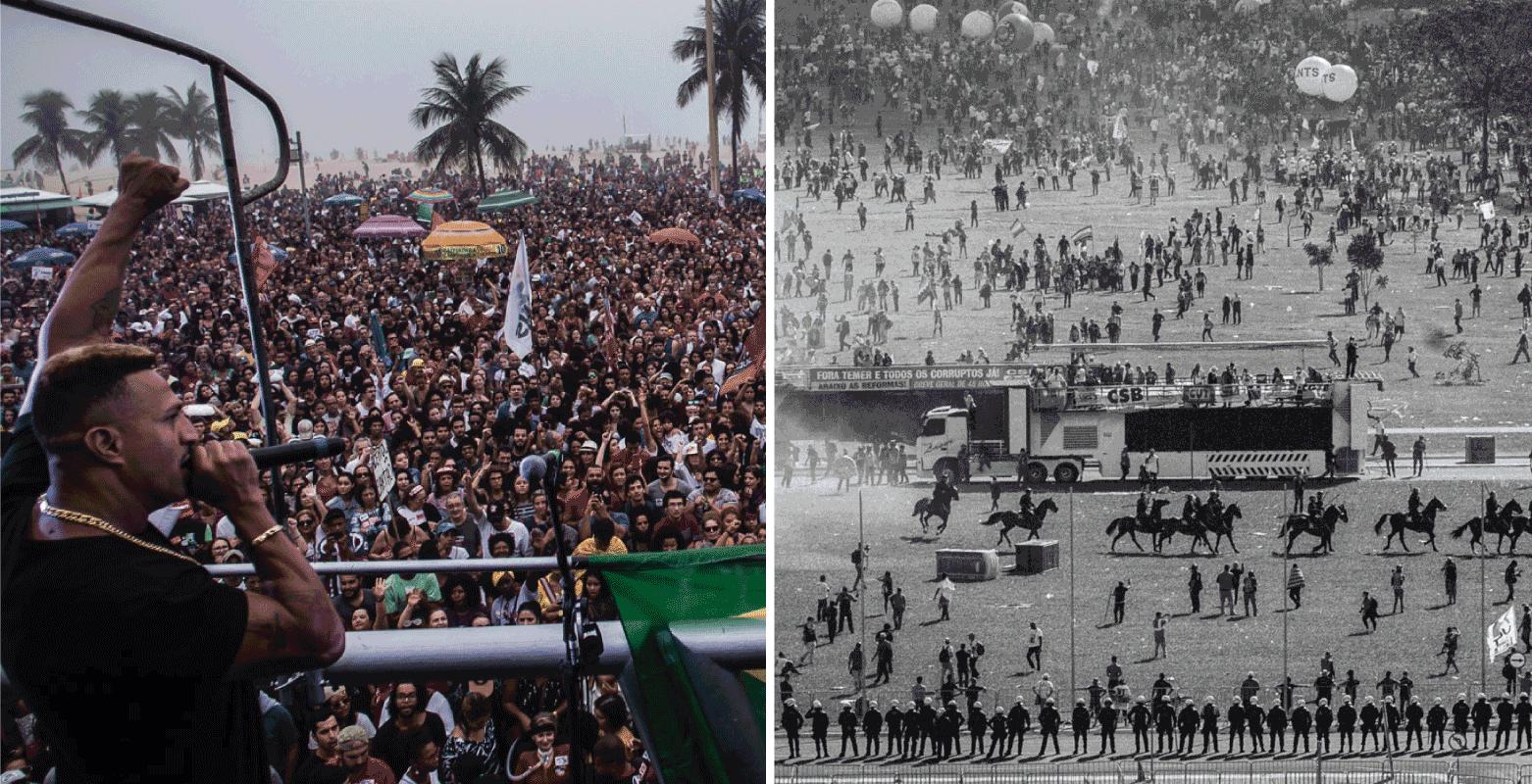 Atos pelas Diretas Já no Rio de Janeiro e em Brasília. Fotos: Mídia NINJA