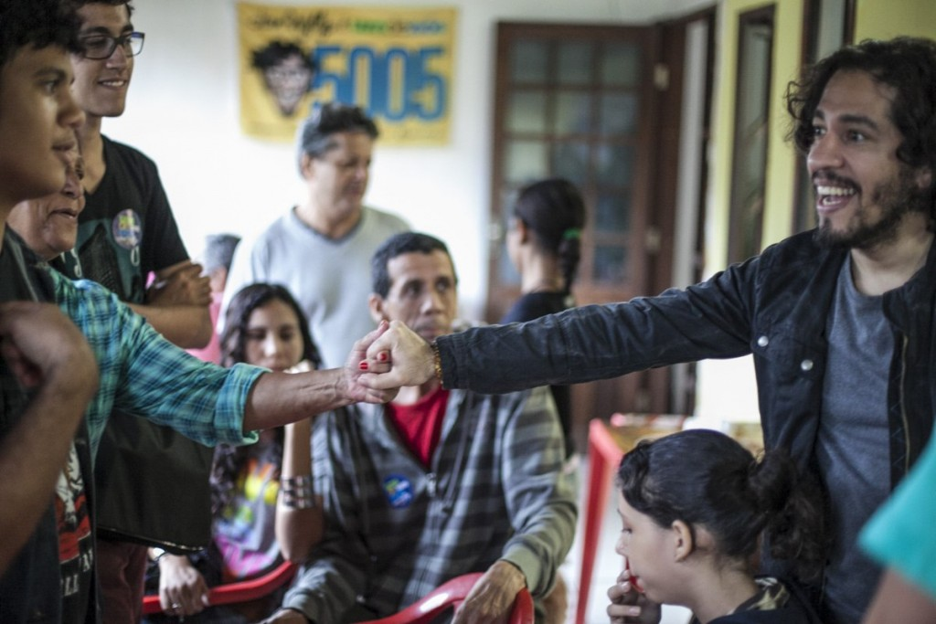 A campanha de 2014 foi feita do diálogo com as pessoas, não de discursos em palanques. Foto: Mídia NINJA