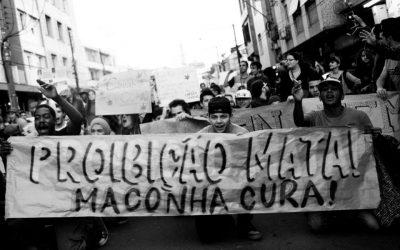 Marcha das favelas pela legalização, contra a criminalização das drogas