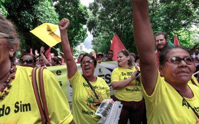 3,5 mil servidores públicos do Mato Grosso contra pacote de maldades do governo