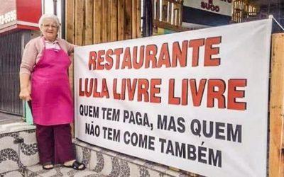 Restaurante muda o nome para 'Lula Livre' e oferece comida grátis a quem não pode pagar