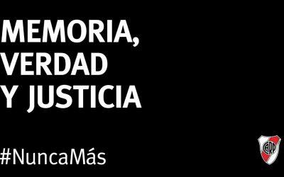 Times de futebol argentinos relembram 43 anos da ditadura #NuncaMás