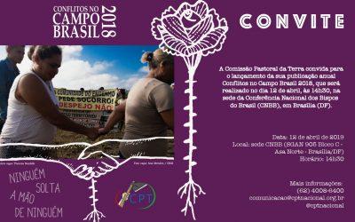 CPT irá lançar o relatório Conflitos no Campo Brasil 2018 nesta semana
