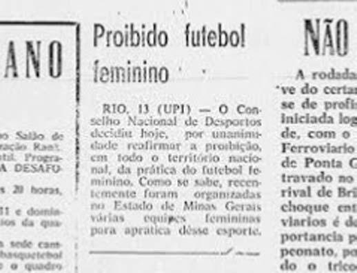 Impedidas – A Proibição do futebol feminino no Brasil