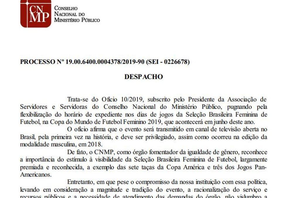 Conselho Nacional do Ministério Público nega pedido de servidoras para assistir a Copa