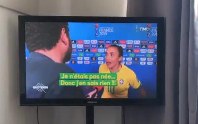 """""""Eu não era nem nascida"""", disse Marta ao ser questionada sobre outras derrotas contra França"""