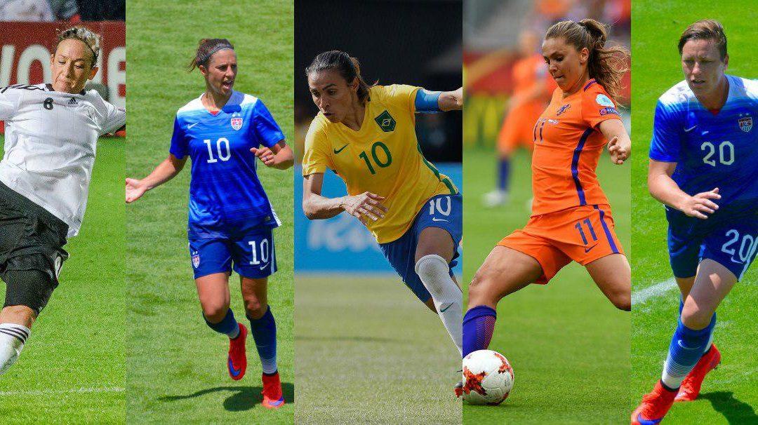 Quem são as últimas 10 melhores jogadoras do mundo FIFA