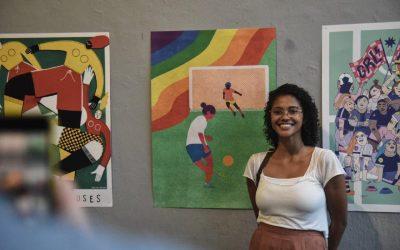 Brasileira ganha concurso francês de ilustração sobre a Copa do Mundo