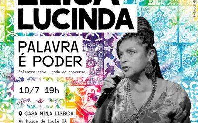 """AO VIVO – Elisa Lucinda em Lisboa na palestra show """"Palavra é Poder"""""""