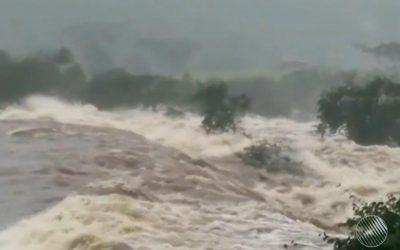 Barragem de terra se rompe no sertão da Bahia