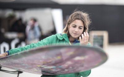 Hoje a surfista Chloé Calmon garantiu vaga do Brasil na próxima fase de longboard dos Jogos de Lima