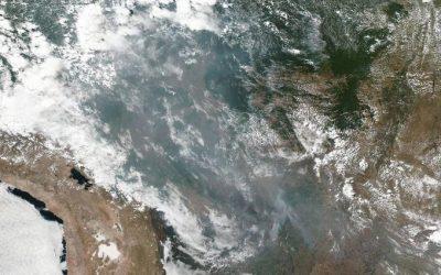 Nasa mostra que fumaça de queimadas na Amazônia pode ser vista do espaço