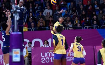 Na disputa pelo Bronze, Brasil perde por 3 sets a 0 para a Argentina e fica com o  quarto lugar