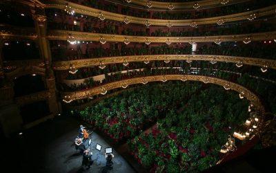 Teatro Liceu em Barcelona reabre com concerto para mais de 2 mil plantas