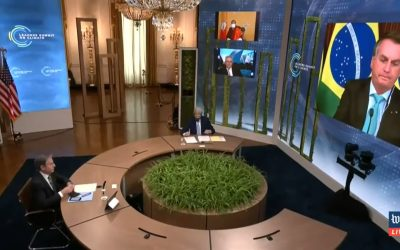 Bolsonaro faz discurso mentiroso na Cúpula do Clima e pede dinheiro a líderes mundiais