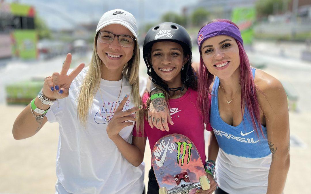 Rayssa Leal, Pâmela Rosa e Letícia Bufoni vão à final do Mundial de skate e garantem vaga em Tóquio