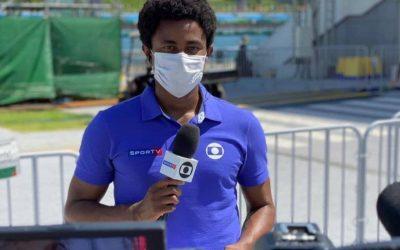 Diego 'San' Moraes, o repórter-atleta que é um dos únicos jornalistas negros em Tóquio