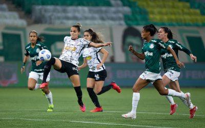 Corinthians supera Palmeiras e sai com vantagem pelo título do Brasileirão Feminino